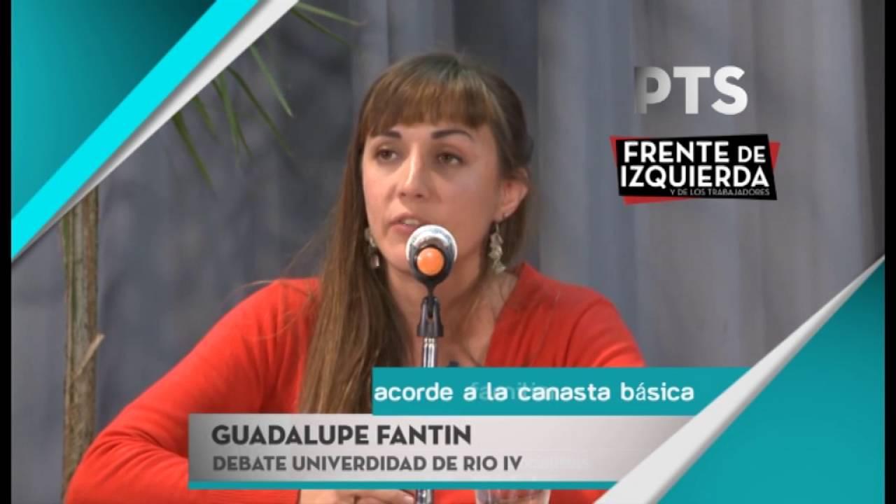 Guadalupe Fantín, candidata a intendenta por el Frente de Izquierda en Río Cuarto (Córdoba)
