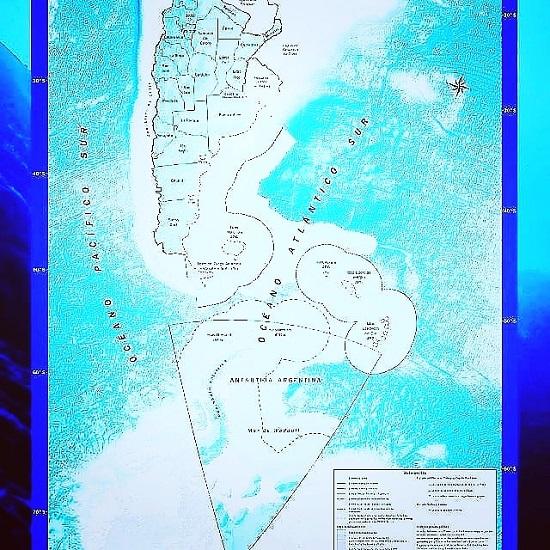 Nuevo mapa de las Islas Malvinas, como se conoce al mapa bicontinental