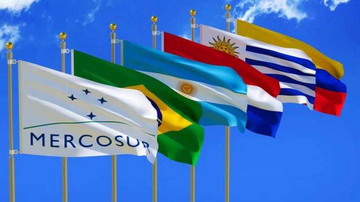 Banderas de los países del Mercosur