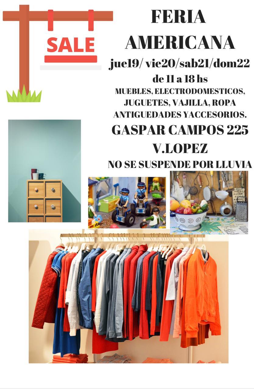Feria americana en Gaspar 225, Vicente López